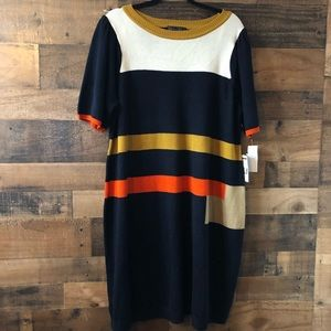 Jessica Howard Striped Color Block Sweater Dress